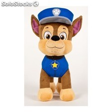 Peluche patrulla canina - chase 19 cm - play by play - paw patrol -