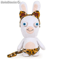 Peluche Raving Rabbids Show Time T3 30cm Leopardo