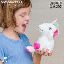 Peluche Unicornio con Grabador y Reproductor de Voz Junior Knows