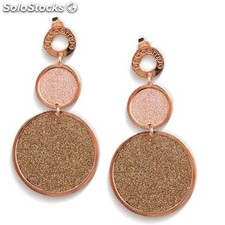 Pendientes Colgante Ippocampo jewels Mujer Bronce Oro rosa