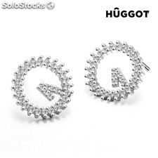 Pendientes de Plata Esterlina 925 con Zirconitas Winner Hûggot