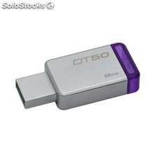 Pendrive 8GB usb 3.1 kingston DT50 morado