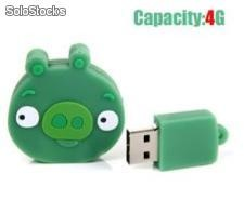Pendrive Angry Birds 4gb (verde)