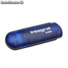 Pendrive integral EVO - 8gb - USB 2.0 - compatible PC y mac - azul
