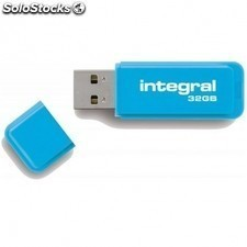 Pendrive integral neon - 32gb - USB 2.0 - compatible PC y mac - azul