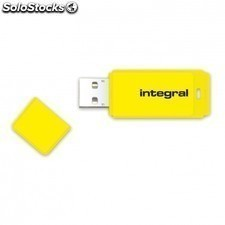 Pendrive integral neon infd16gbneonyl - 16gb - USB 2.0 - compatible PC y mac -