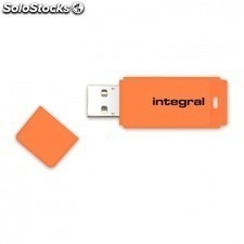Pendrive integral neon infd64gbneonor - 64gb - USB 2.0 - compatible PC y mac -