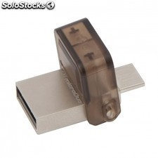 Pendrive KINGSTON datatraveler microduo - 8gb - conectores USB y microUSB -