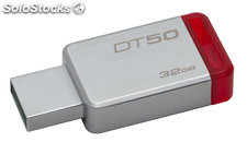Pendrive memoria usb 32GB Kingston DT50/32GB Rojo
