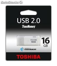 Pendrive Toshiba USB 2.0. 16GB Blanco