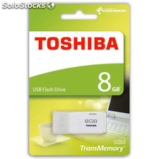 Pendrive toshiba usb 8GB 2.0 blanco