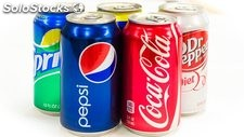 Pepsi can 330ml, Cola light can 330ml, Fanta can 330ml