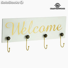 Percha de pared welcome by Craftenwood