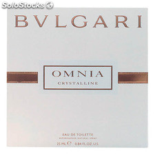 Perfume mujer omnia crystalline bvlgari edt satin pouch