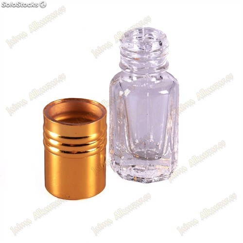 Perfumero Cristal - Roll On - 3 ml - Cabeza Dorada