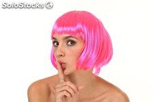Perruque bob cut - 3 neon