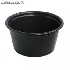 Petit pot micro-ondable - 60 ml noir pp