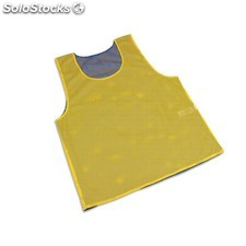 Peto reversible malla. talla xl. color amarillo y rojo