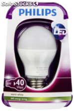 Philips LED lámpara E27 6W (40W) blanco cálido 470lm mate
