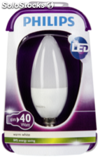 Philips LED vela E14 6W (40W) blanco cálido 470lm mate