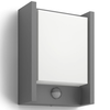 Philips Luz de pared LED sensor movimiento Arbour 6 W gris 164619316