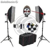Photo studio lighting kit with two windows and tripods (QB32)
