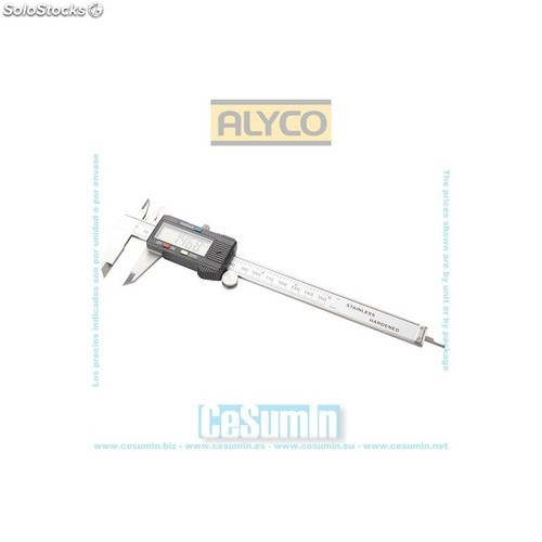 Pie de rey digital 150x0.01 mm acero inoxidable - ALYCO - Ref: 197372