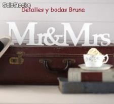 Pie Mr y Mrs. Letras baratas boda
