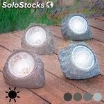 Piedra artificial solar (4 led)