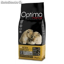Pienso Optima Nova kitten chicken & rice con carne fresca