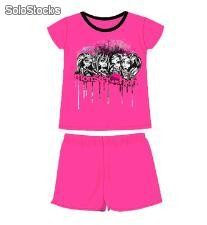 Pijama 4 Personajes Monster High (Talla 14)