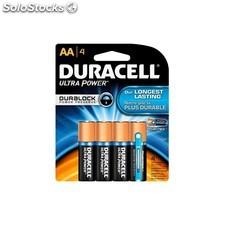 Pila alcalina duracell aa (pack 4 unidades)