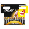 Pila alcalina duracell plus power LR03 12 unds