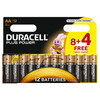 Pila alcalina duracell plus power LR06 12 unds