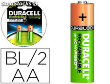 Pila duracell recargable staycharged aa 2100 mah blister de 2 unidades