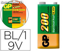 Pila gp recyclo+recargable 1x9v blister