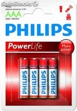 Pilas alcalinas philips lr3 aaa pack-4 unidades