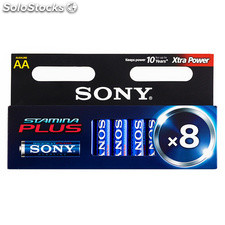 Pilas Alcalinas Plus Sony AA LR6 1,5V AM3 (pack de 8)