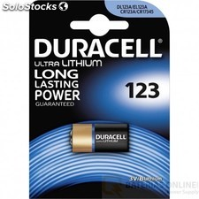 Pilas litio duracell cr123a dl123