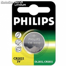 Pilas philips litio cr2032 boton blister 40x60mm 220mah 3v ( replace