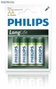 Pilas Philips LongLife de Zinc-Carbono