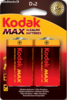 Piles alcalines Kodak MAX D LR20 (pack 2) - Photo 1