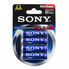 Piles Alcalines Plus Sony AA LR6 d'1,5V AM3 (pack de 4)
