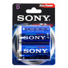 Piles alcalines plus Sony D LR20 1,5V AM1 (pack de 2)