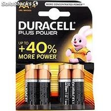 Piles duracell plus power AA 4 n