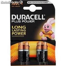 Piles duracell plus power AAA 4 n