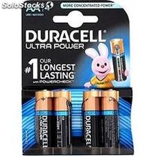 Piles duracell ultra power AAX4