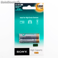 Piles rechargeables Sony Ni-MH AAA 1000 mA 1,2V (pack de 2)
