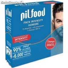 Pilfood pack intensity hombre 15 ampollas + 60 comprimidos + champu 200ML
