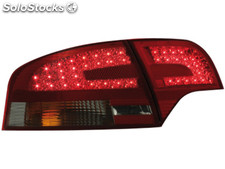 Pilotos traseros led audi A4 B7 lim. 04-08 red/ahumado